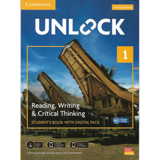 Two English books UNLOCK 1 | The original version | It consists of two books | with code